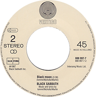 Black Sabbath - The Shining / Black Moon - Netherlands - Vertigo 888 997-7 - 1986 - Side 2
