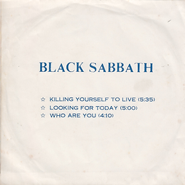 Black Sabbath - Killing Yourself To Live / Looking For Today / Who Are You - Thailand - 4 Track FT.991 - 197?- Back