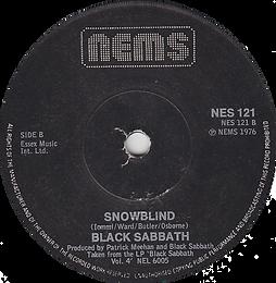 Black Sabbath - Paranoid / Snowblind - UK - NEMS NES 121 - 1978 - Side 2