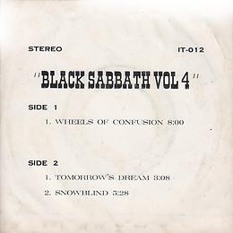 Black Sabbath - Wheels Of Confusion / Tomorrow's Dream / Snowblind - Thailand - IT IT-012 - 197?- Back