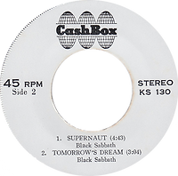 Black Sabbath - Snowblind / St.Vitus Dance / Supernaut / Tomorrow's Dream - Thailand - Cash Box KS-130 - 197? - Side 2