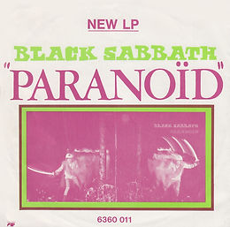 Black Sabbath - Paranoid / Rat Salad - Belgium - Vertigo 6059 014- 1970 back