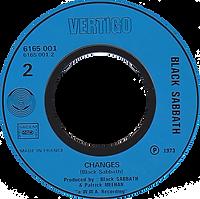 Black Sabbath - Sabbath Bloody Sabbath / Changes - France - Vertigo 6165 001 - 1973 - Side 2