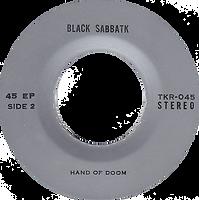 Black Sabbath - Iron Man / Electric Funeral / Hand Of Doom - Thailand - TKR -045 - 197?- Side 2