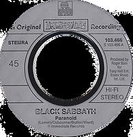 Black Sabbath - Paranoid / Evil Woman - Netherlands - Ariola 103.466 - 1981 - Side 1