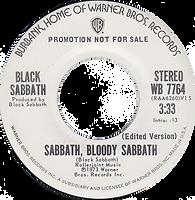 Sabbath Bloody Sabbath / Sabbath Bloody Sabbath Warner Bros 7764- 1974 Stereo