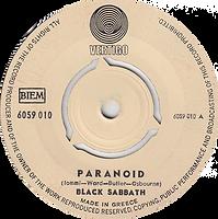 Black Sabbath - Paranoid / The Wizard - Greece - Vertigo 6059 010- 1970 - Side 1