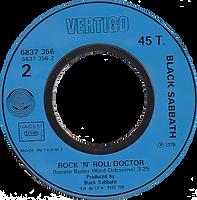 Black Sabbath - Back Street Kids / Rock'n'Rol Doctor (Promo) - France - Vertigo 6837 356-1976 - Side 2