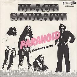 Black Sabbath - Paranoid / Tomorrow's Dream - Netherlands - NEMS SRS 510 044- 1977- Back