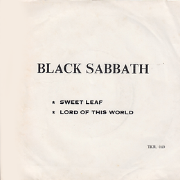 Black Sabbath - Sweet Leaf / Lord Of This World - Thailand - TKR 040 - 197?- Back