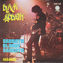 Black Sabbath  - Sabbath Bloody Sabbath / Changes - Portugal - Vertigo  6165 001 - 1973 - Front with light blue letters