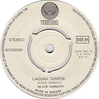 Black Sabbath - Tomorrow's Dream / Laguna Sunrise - Greece - Vertigo 6159 061 - 1972 - Side 2