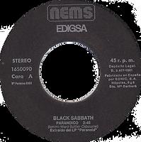 Black Sabbath - Paranoid / Rat Salad - Spain - Nems 16S0099- 1980 - Side 1