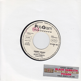 Black Sabbath - Angry Heart / Poison - Talk Dirty To Me - Italy - Polygram AS 5000 765 - 1976 - Promo