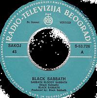 Black Sabbath - Sabbath Bloody Sabbath / Changes - Yugoslavia - Radio-Televizija Beograd S-53.726 - 1973 - Side A