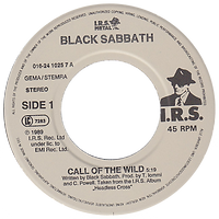 Black Sabbath - Call Of The Wild / Devil And Daughter - Netherlands - I.R.S.  016.24 1025 7 - 1989 - Side 1