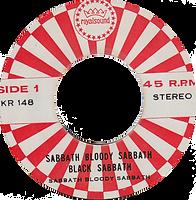 Black Sabbath - Sabbath Bloody Sabbath / Killing Yourself To Live - Thailand - Royalsound TKR 148 - 197?- Side 1