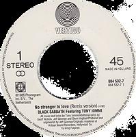 Black Sabbath - No Stranger To Love (Remix) / Angry Heart - Netherlands - Vertigo 884 532-1 - 1986 - Side 1