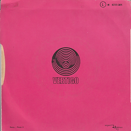 Black Sabbath - Evil Woman / Wicked World -France - Vertigo 6059 002 - 1970 - back