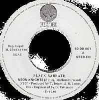 Black Sabbath - Neon Knights / Children Of The Sea - Spain - Vertigo 6000 461 - 1980 - Side 1