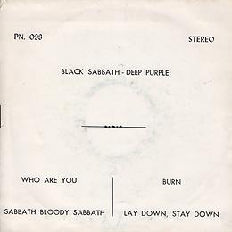 Black Sabbath - Sabbath Bloody Sabbath / A National Acrobat - Thailand - 4 Track FT.990 - 197?- Back