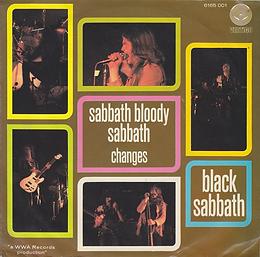 Black Sabbath - Sabbath Bloody Sabbath / Changes - Netherlands - Vertigo 6165001- 1973 - Back