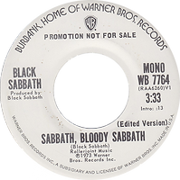 Sabbath Bloody Sabbath / Sabbath Bloody Sabbath Warner Bros 7764- 1974 Mono