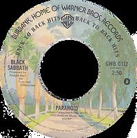 Black Sabbath - Paranoid / Iron Man Warner Bros GWB 0312- 1975 - issued with US single - Side 1