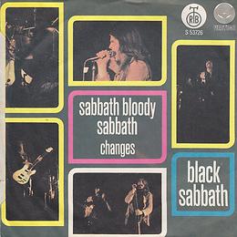 Black Sabbath - Sabbath Bloody Sabbath / Changes - Yugoslava - Radio-Televizija Beograd S-53.726 - 1973 - Back