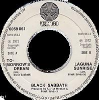 Black Sabbath - Tomorrow's Dram / Laguna Sunrise - UK  -Vertigo 6059 061- 1972 - Side 2