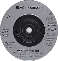 Black Sabbath - Feels Good To Me / Paranoid (Live) - UK - I.R.S. EIRS 148- 1990 - Side A