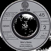 Black Sabbath - Never Say Die / She's Gone - Germany - Vertigo 6079103- 1978 - Side 2