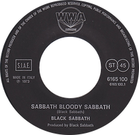 Black Sabbath - Sabbath Bloody Sabbath / Changes - Italy - Vertigo 6165 100 - 1973 - Side 1