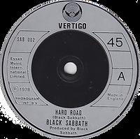 Bl-ack Sabbath  - Hard Road / Symtom Of The Universe - UK - Vertigo SAB 002- 1978 - Black vinyl Silver label