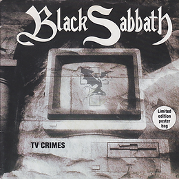 Black Sabbath - TV Crimes / Letter From Earth (Alternative Version) Poster sleeve - UK -  I.R.S. EIRS 178- 1992 - Front