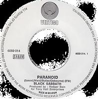 Black Sabbath - Paranoid / Rat Salad - Belgium - Vertigo 6059 014- 1970 - Side 1