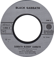 Black Sabbath - Paranoid / Sabbath Bloody Sabbath - France - Arabella 102 280-1978 - Side 2