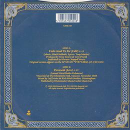 Black Sabbath - Feels Good To Me / Paranoid (Live) - UK - I.R.S. EIRS 148- 1990 - Back