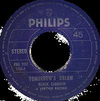Black Sabbath - Tomorrow's Dream / St.Vitus Dance - Phillipines - Philips PHI-1192 - 197? - Side 1