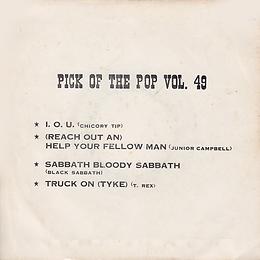 Chicory Tip - I.O.U / Junior Campbell - (Reach Out An) Help Your Fellow Man / Black Sabbath - Sabbath Bloody Sabbath / T.Rex - Truck On (Tyke) - - Thailand - Royalsound TKR 134 - 197? - Back
