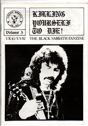 Black Sabbath - Fanzine - Killing Yourself To Die - No.5