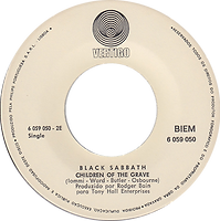 Black Sabbath - Children Of The Grave / Solitude - Portugal - Vertigo  6059 050 - 1970 - Side 1
