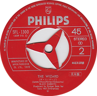 Black Sabbath - Paranoid / The Wizard - Japan Promo - Philip SFL1300- 1970 - Side 2
