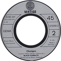 Black Sabbath - Sabbath Bloody Sabbath / Changes - Germany - Vertigo 6165001- 1973 - Side 2