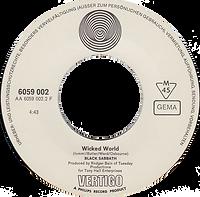 Black Sabbath - Evil Woman / Wicked World - Germany - Vertigo 6059 002 - 1970 - side 2