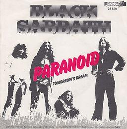 Black Sabbath - Paranoid / Tomorrow's Dream - Belgium - NEMS 26.550 - 1980