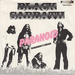 Black Sabbath - Paranoid / Tomorrow's Dream - Netherlands - NEMS SRS 510 044- 1977 - Front