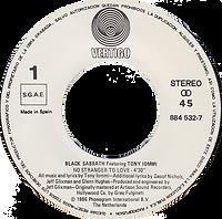Black Sabbath - Mob Rules / Voodoo - Spain - Vertigo 6000 763 - 1981 - Side 1