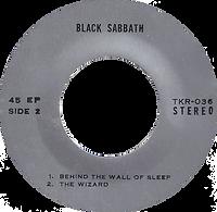 Black Sabbath - N.I.B. / Behind The Wall Of Sleep / The Wizard - Thailand - TKR -036 - 197?- Side 2