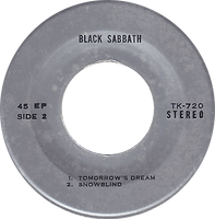 Black Sabbath - Supernaut / St.Vitus Dance / Tomorrow's Dream / Snowblind - Thailand - TKR 720 - 197?- side 2
